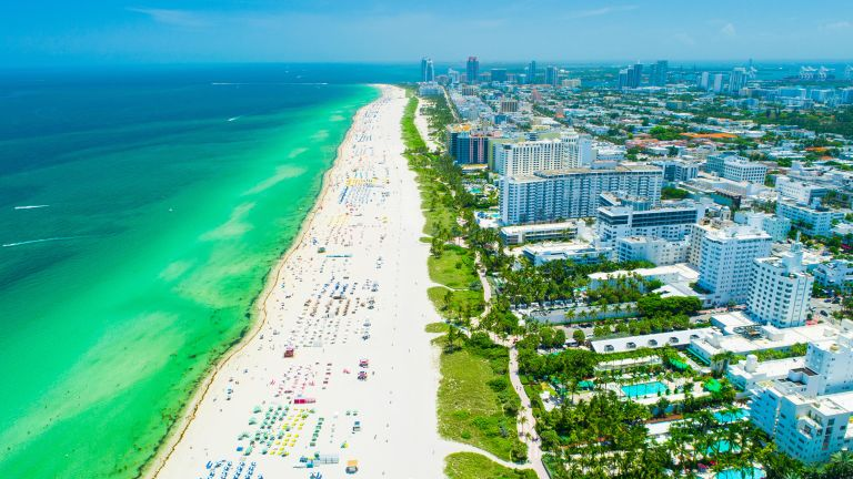 best place to buy a vacation home in Florida: Aerial view of Miami Beach, Miami, FL