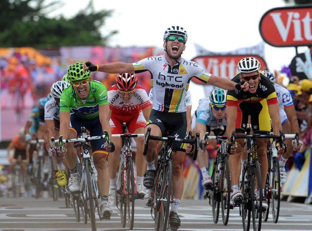 Mark Cavendish wins, Tour de France 2011, stage five