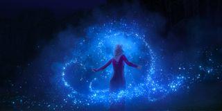 Elsa uses her powers in Frozen II