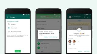 WhatsApp group chat privacy controls