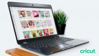 best laptop for Cricut: laptop showing Cricut's Design Space software