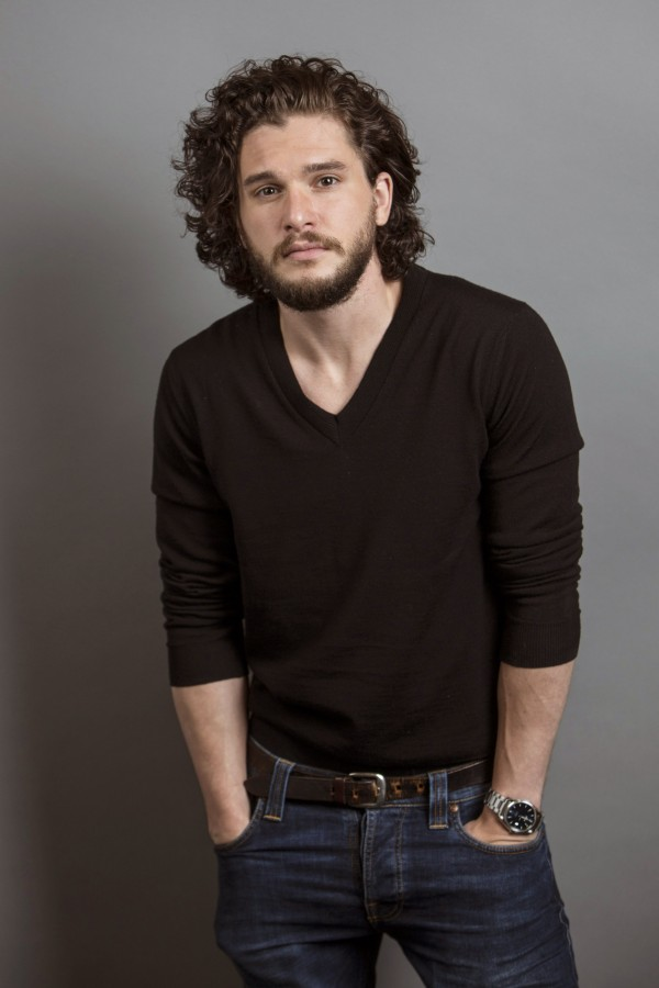 Kit Harington poses for portraits on July 3, with his hair long (Amy Sussman/AP)