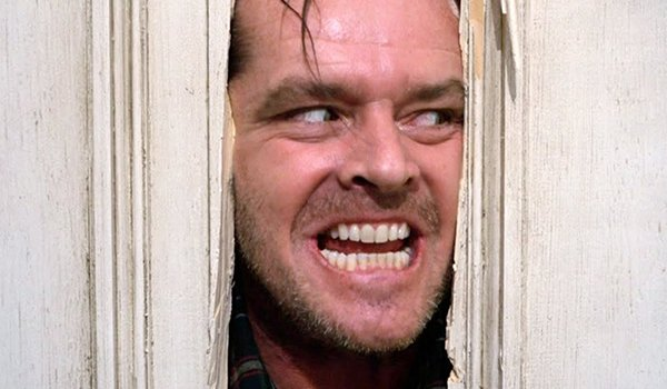 Here's Johnny! Jack Nicolson's iconic axe scene in The Shining