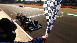 Lewis Hamilton wins the 2021 British Grand Prix at Silverstone on Sunday, July 18, 2021.