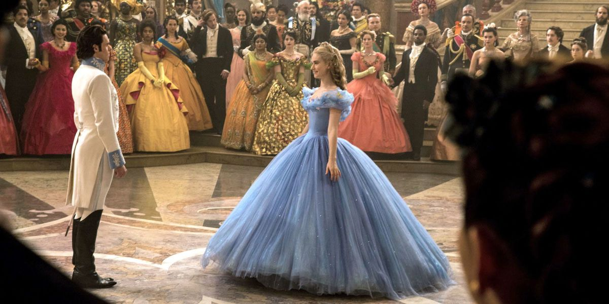 Cinderella in the 2015 live-action remake.