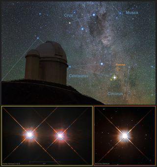 Red Dwarf Proxima Centauri over La Silla Observatory