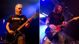 David Sullican and Bryan Giles of Red Fang performing live