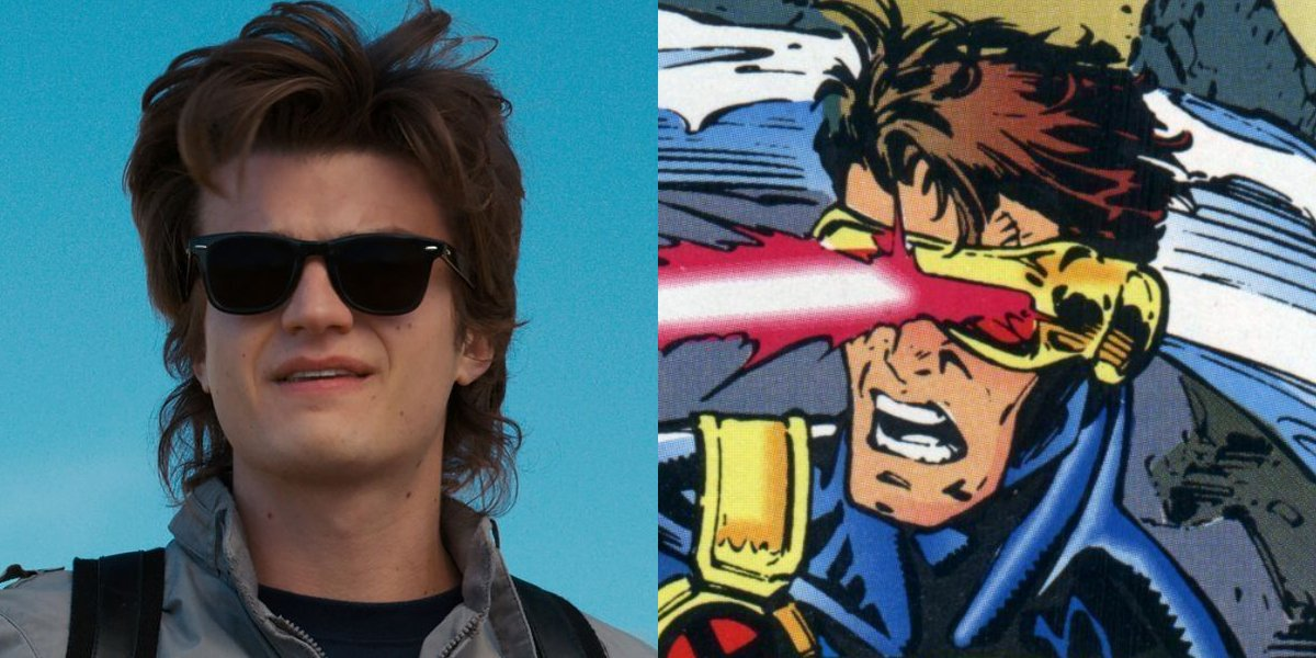 Stranger Things' Joe Keery and Cyclops of X-Men