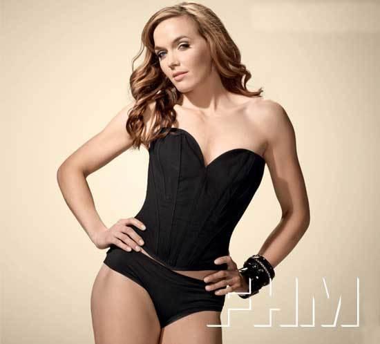 Victoria Pendleton strips for FHM