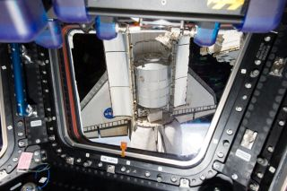 Atlantis as Seen Through the International Space Station's Cupola