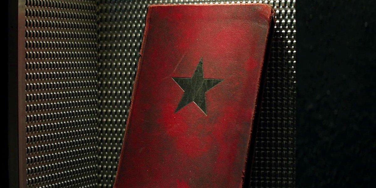 The Winter Soldier book in Captain America: Civil War (2016)