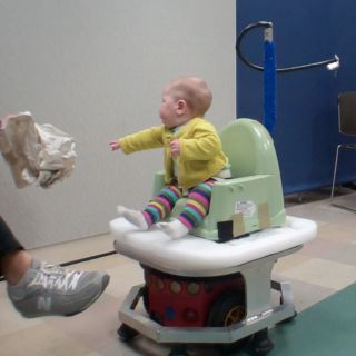 Photo of baby during WeeBot training