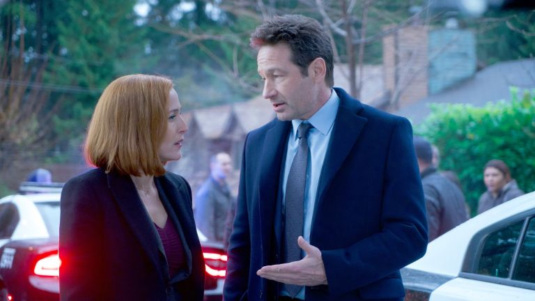 """The X-Files Gillian Anderson and David Duchovny, THE X-FILES: Gillian Anderson and David Duchovny in the """"Familiar"""" episode of THE X-FILES airing Wednesday, March 7"""
