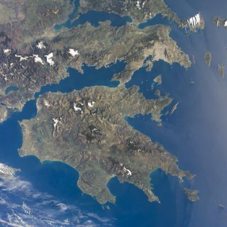 A view of Greece captured by an astronaut aboard the International Space Station on March 21, 2014.