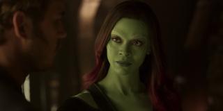 Gamora during Yondu's funeral