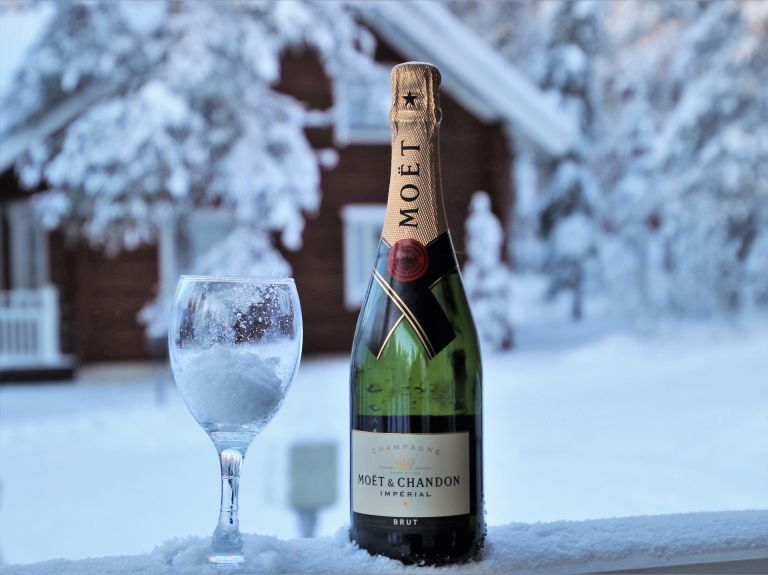 Champagne in Lapland