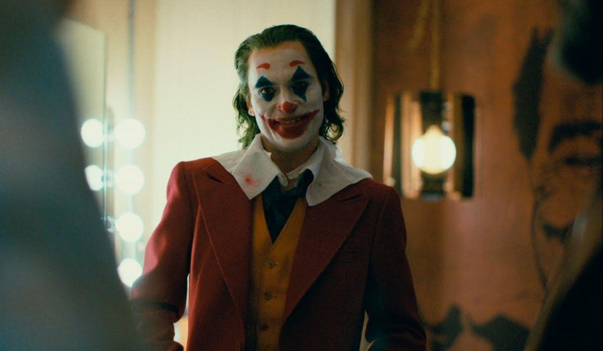 Joker in his dressing room