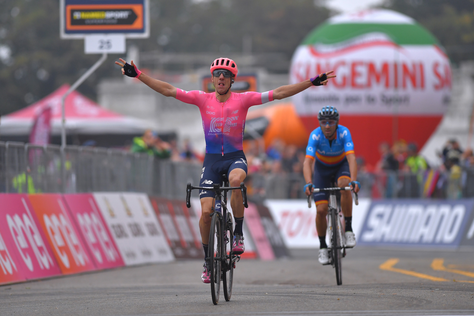 Relentless Michael Woods finally powers away from rivals to score Milano-Torino 2019 victory