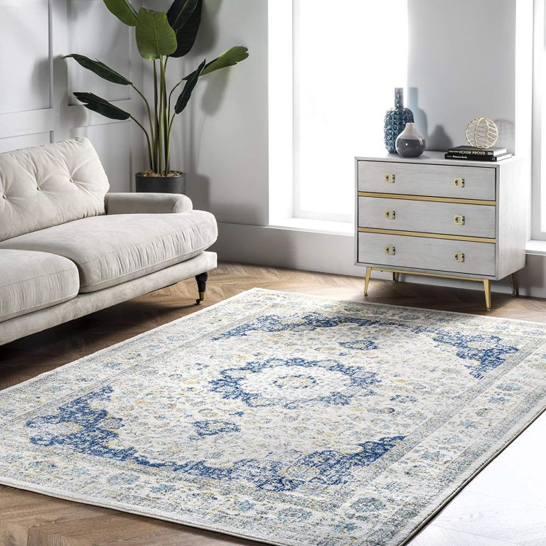 nuLOOM faded vintage persian style area rug available with amazon discount code