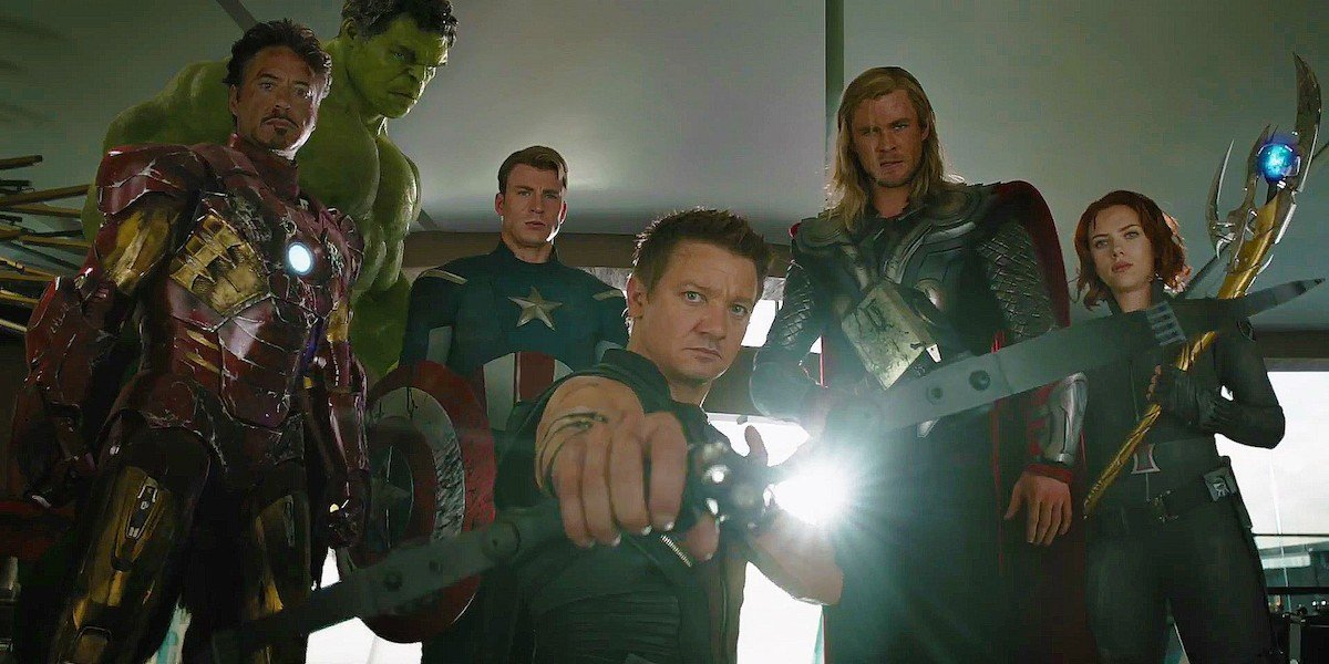 The Avengers assembled at the end of the first movie