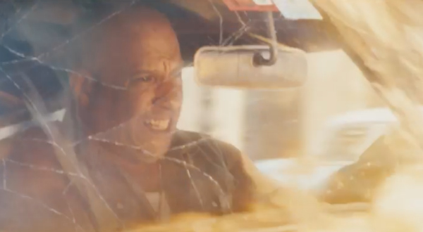 Of Course Vin Diesel Races A Car That's On Fire In The Fate Of The Furious