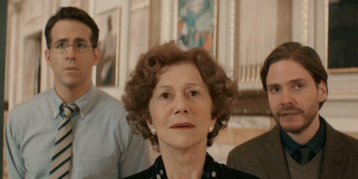 Ryan Reynolds, Helen Mirren, and Daniel Bruhl in Woman in Gold
