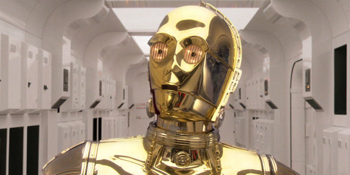 C-3PO in Star Wars A New Hope