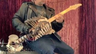 Skeleton guitar