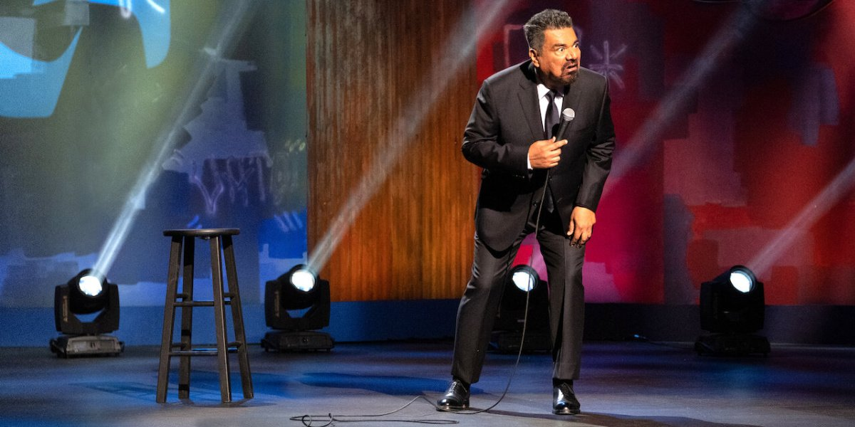 George Lopez in his comedy special, We'll Do It For Half on Netflix.