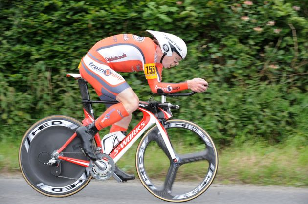 Michael Hutchinson, men's winner, British National 25-mile time trial 2011