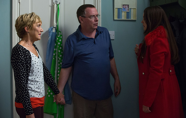 EastEnders Jean Slater and Ian Beale with Stacey Fowler