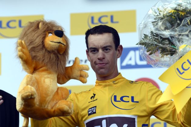 Richie Porte on podium, Paris-Nice 2013, stage six