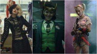 Cruella, Loki, and Harley Quinn