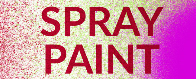 Photoshop brushes: spray paint