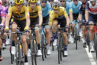 Jumbo-Visma's Tom Dumoulin and Primoz Roglic on the opening stage of the 2020 Vuelta a Espana
