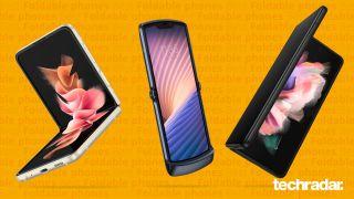 Une sélection des meilleurs smartphones pliables, dont les Samsung Galaxy Z Flip 3, Z Fold 3 et Motorola Razr (2020)