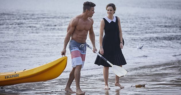 Tori Morgan briefly discuss Mason Morgans strange behavior lately including kayaking alone around the bay in Home and Away.