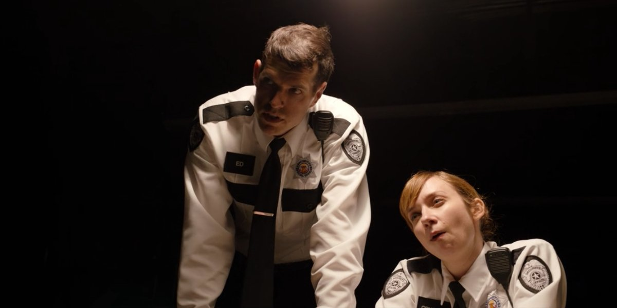 Timothy Simons and Lauren Lapkus in Happiest Season