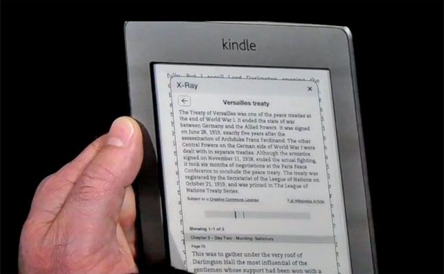Video Amazon Kindle Touch S X Ray Reference Tool Makes