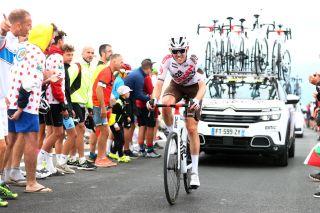 Ben O'Connor (AG2R Citroën) battling his way up Mont Ventoux during stage 11 of the Tour de France