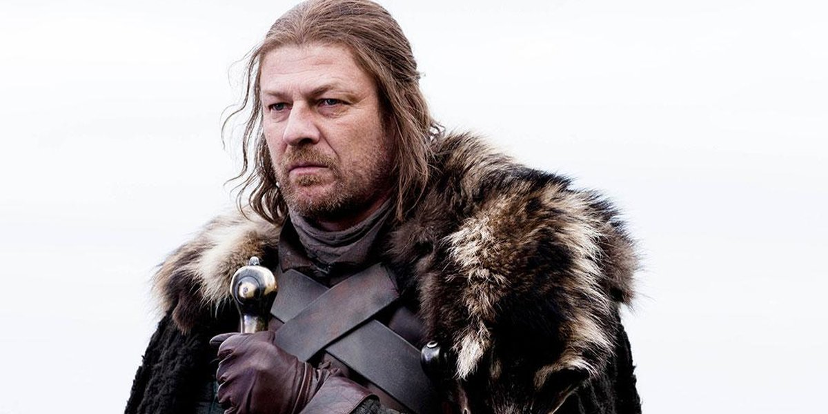 Game of Thrones Sean Bean looks pensive as Ned Stark HBO