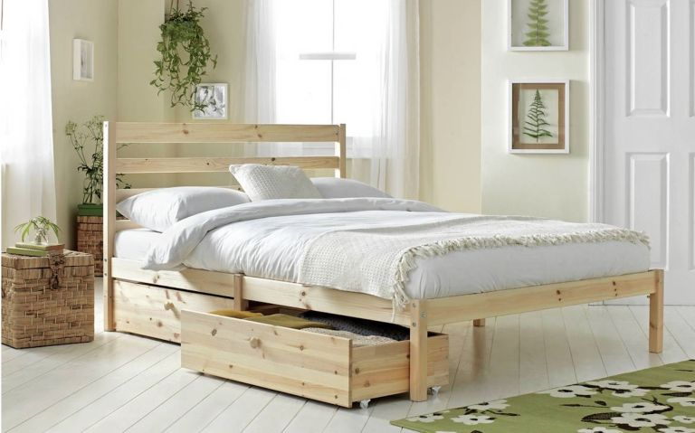 bed sales: Argos Home Kaycie Double Bed Frame