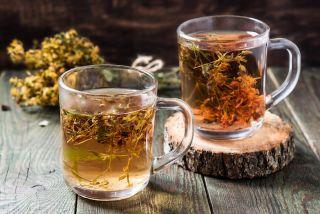 Tea made from St. John's wort