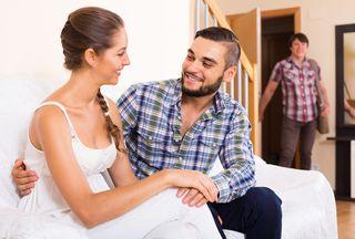 Woman cheating on husband