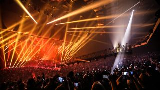 MGM's Park Theater was outfitted with 230 speakers to support an immersive concert sound experience.