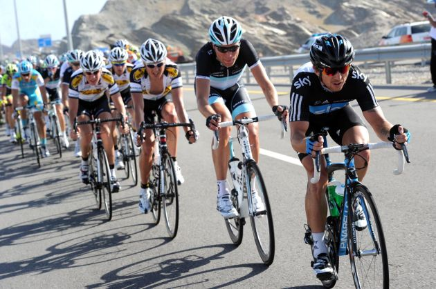 Russell Downing leads, Tour of Oman 2011, stage 2