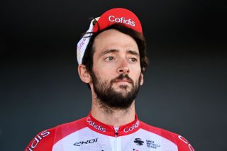 MALSELV NORWAY AUGUST 07 Nathan Haas of Australia and Team Cofidis prior to the 8th Arctic Race Of Norway 2021 Stage 3 a 1845km stage from Finnsnes Senja to Mlselv Alpine village 375m ArcticRace on August 07 2021 in Malselv Norway Photo by Stuart FranklinGetty Images