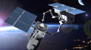 Tethers Unlimited's LEO Knight servicer is being designed to service spacecraft in orbits up to 1,200 kilometers.