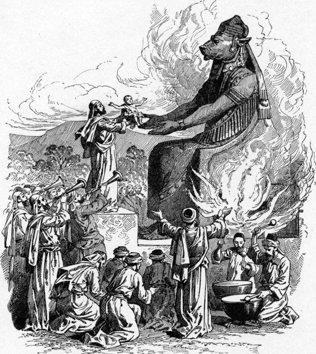 Israel human sacrifice.