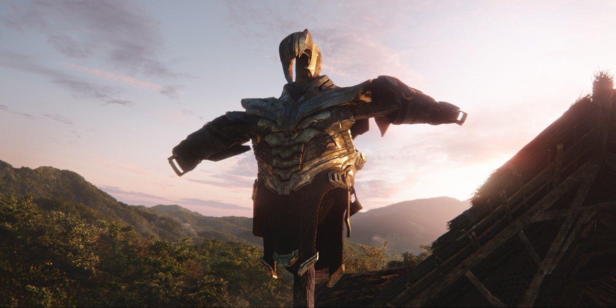 Thanos armor scarecrow Avengers Endgame